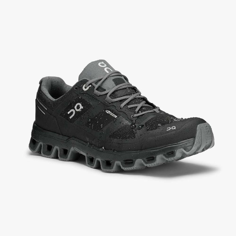 On Women's Cloudventure Waterproof Trail Running Shoe - Black/Graphite