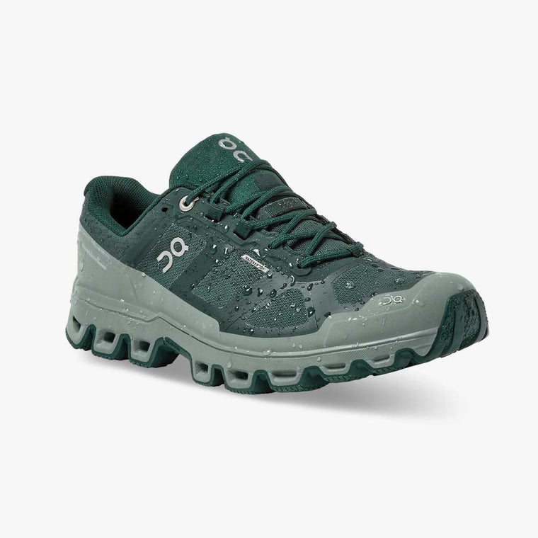 On Women's Cloudventure Waterproof Trail Running Shoe - Juniper/Sea