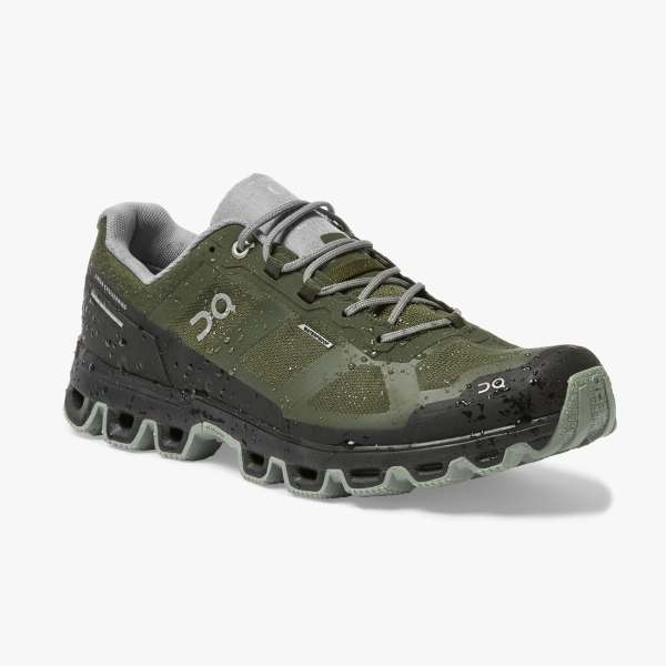 On Men's Cloudventure Waterproof Trail Running Shoes - Fir/Lunar