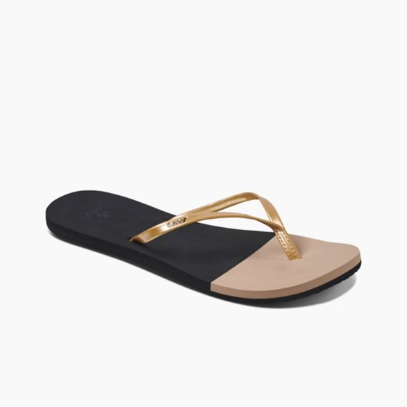 Women's Reef Bliss Toe Dip - Black/Gold
