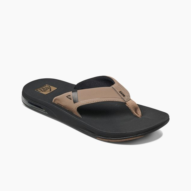 Men's Reef Fanning Low - Black/Tan