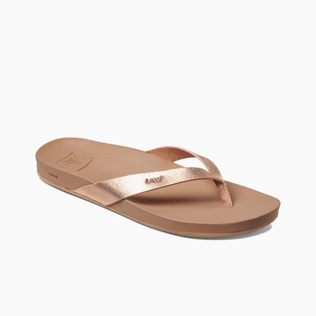 Reef Women's Cushion Court Flip Flops - Rose Gold