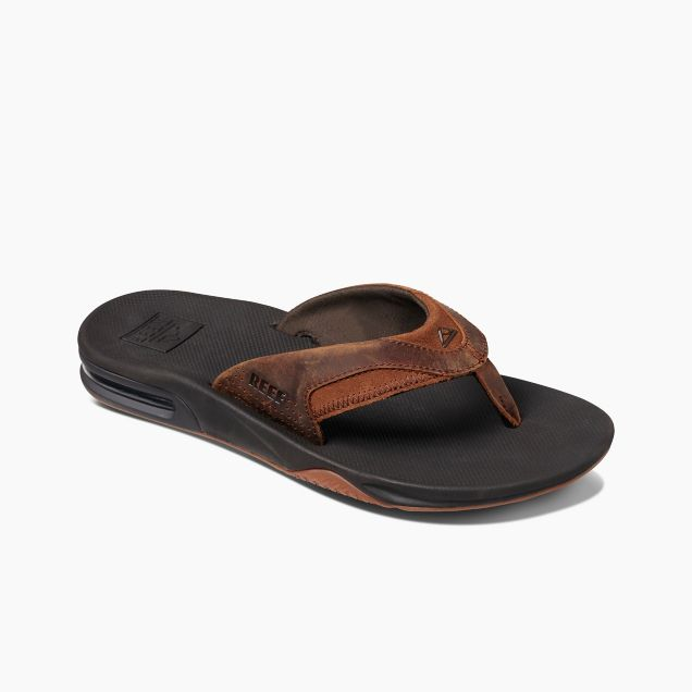 Men's Reef Leather Fanning - Bronze