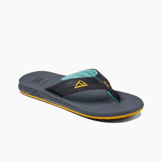 Men's Reef Phantoms - Aqua/Yellow