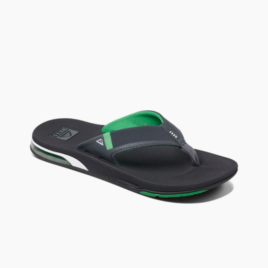 Men's Reef Fanning Low - Black/Green