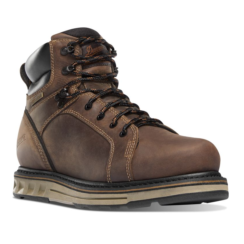 "Danner Men's Steel Yard 6"" Steel Toe Wedge Boot - Brown Hot"