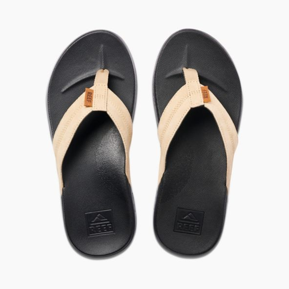 Men's Reef Cushion Bounce Phantom LE Flip Flops - Black/Tan