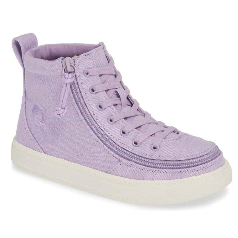 Kids' BILLY Footwear Classic Lace Zip High Top - Purple Canvas