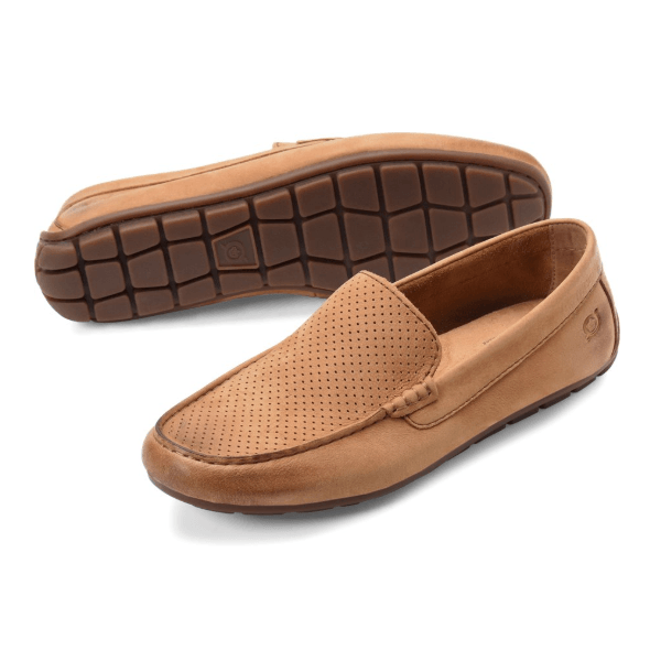 Born Men's Allan Slip-On - Chipmunk Perf (Brown)