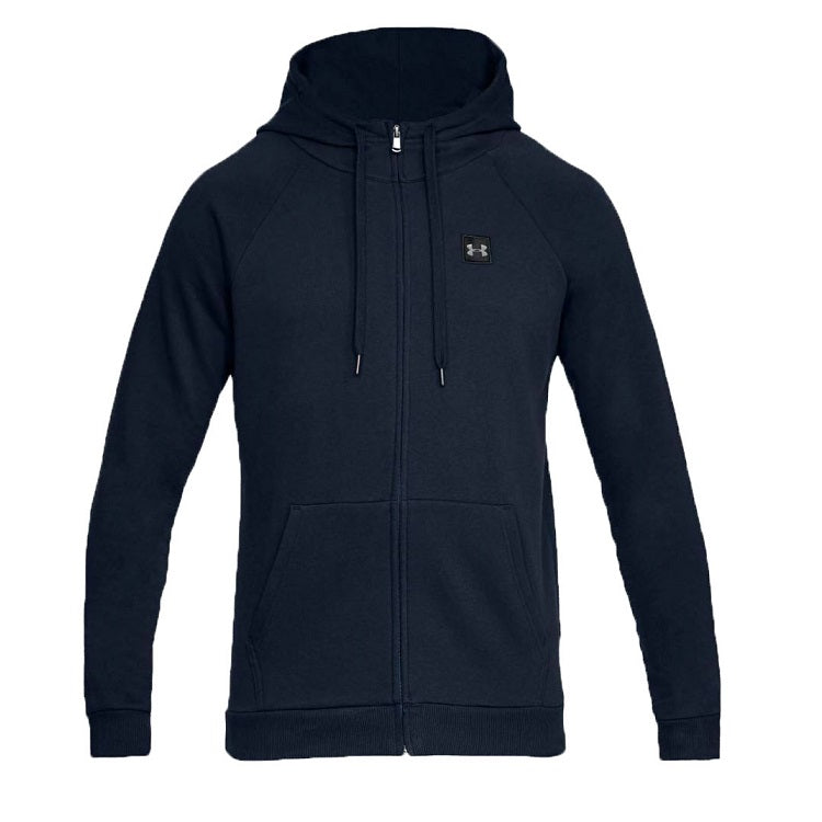 Men's Under Armour UA Rival Fleece Full-Zip Hoodie - Academy/Black