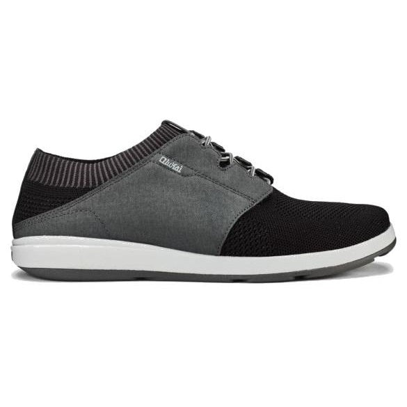 Men's OluKai Makia Ulana Kai Sneakers - Black/Dark Shadow