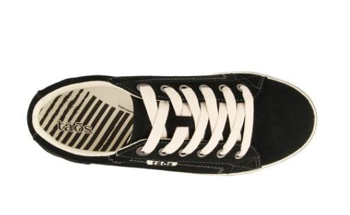 Women's Taos Retro Star Sneaker in Black Suede