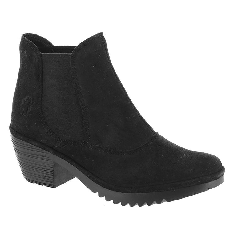 Women's Fly London Wote Bootie - Black Ranch Leather