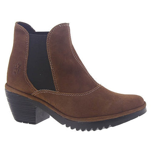 Women's Fly London Wote Bootie - Cognac Ranch Leather