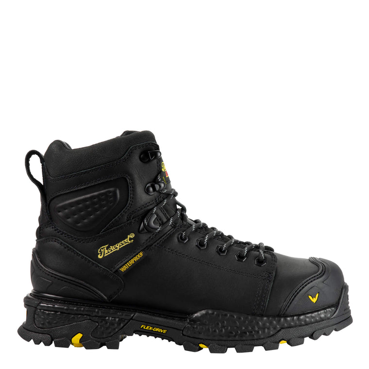 Thorogood Men's 804-6305 Infinity FD Series WP Safety Toe Work Boots - Black