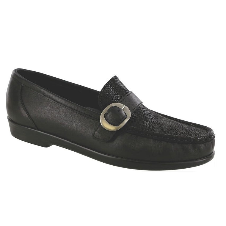 SAS Women's Lara Slip On Loafer - Black Marsh