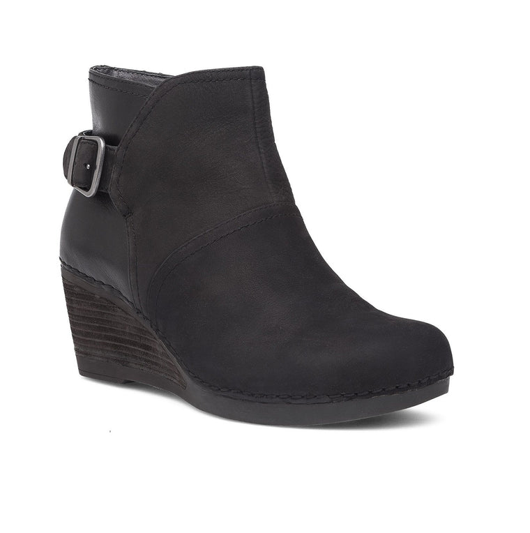 Women's Dansko Shirley Stacked Wedge Booties