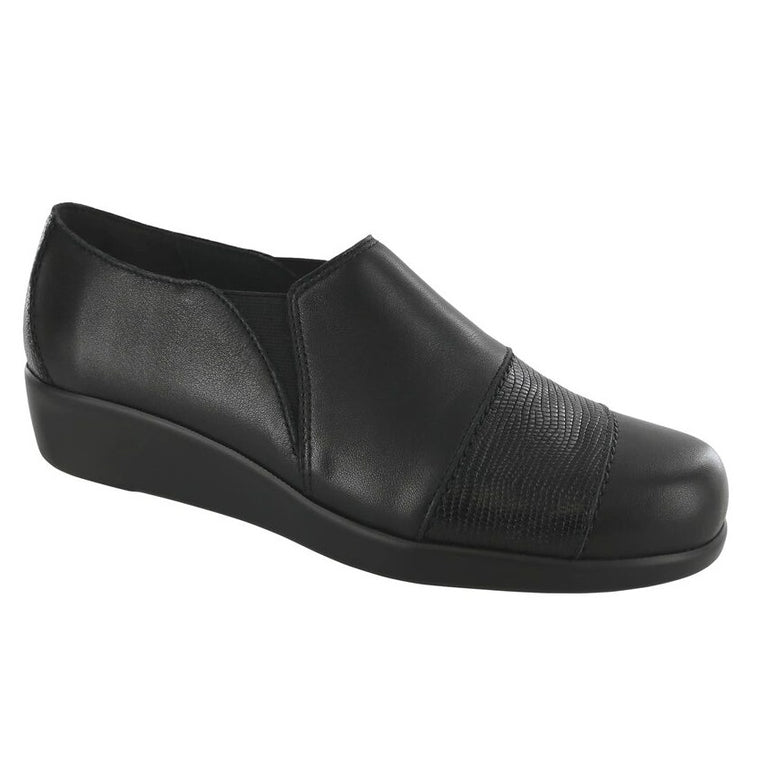 SAS Women's Nora Slip On Loafer - Black/Lizard