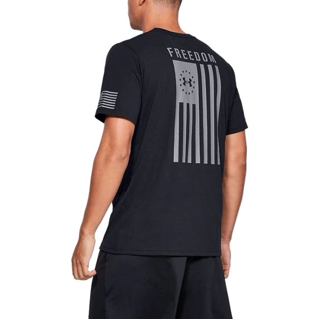 Men's Under Armour UA Freedom Flag Tactical Graphic T-Shirt - Black