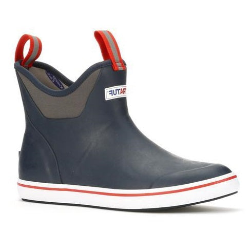 Men's XTRATUF 6 Inch Ankle Deck Boot - Navy/Red