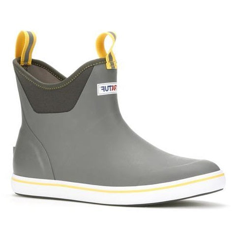 Men's XTRATUF 6 Inch Ankle Deck Boot - Gray/Yellow