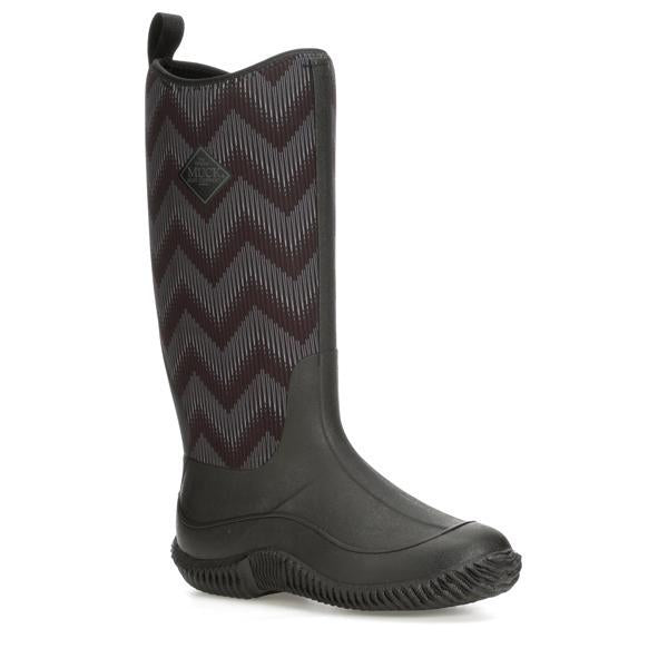 Women's Muck Hale - Black/Black Chevron