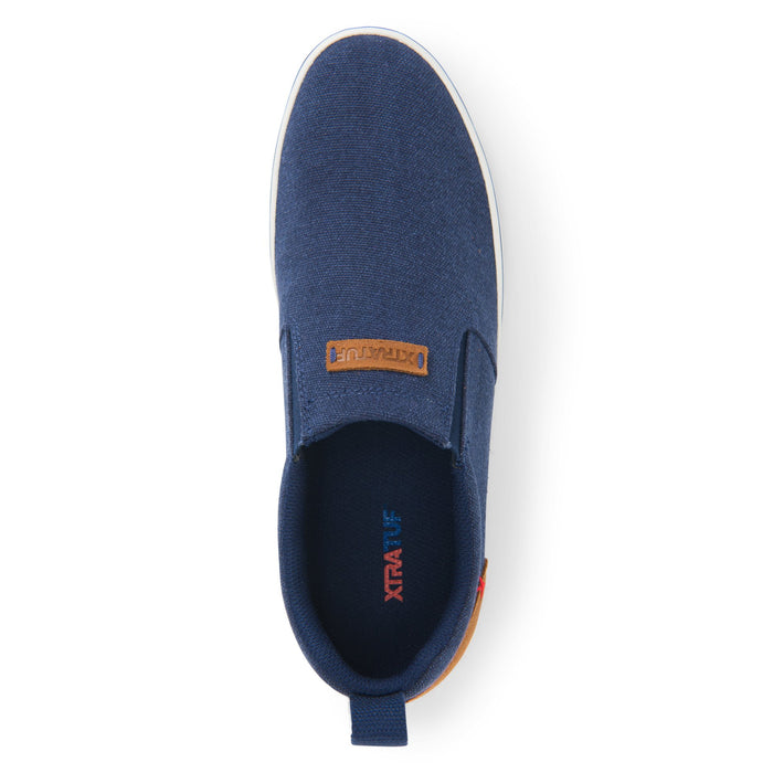 Men's XTRATUF Canvas Sharkbyte Deck Shoe - Peacoat Blue