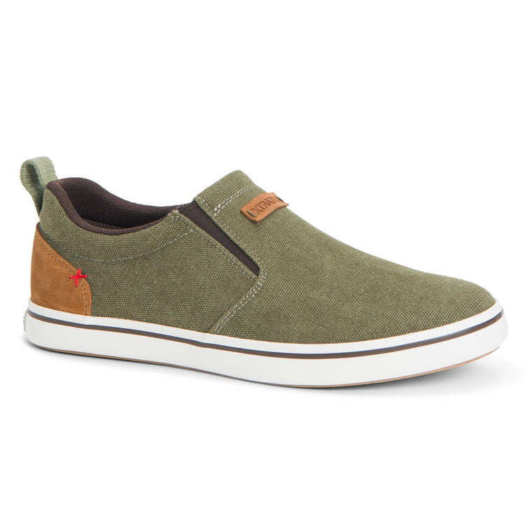 Men's XTRATUF Canvas Sharkbyte Deck Shoe - Burnt Olive