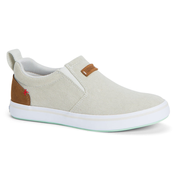 Women's XTRATUF Canvas Sharkbyte Deck Shoe - Light Gray