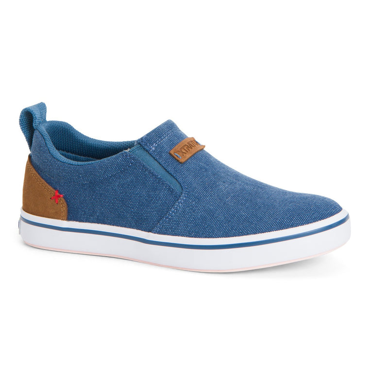 Women's XTRATUF Canvas Sharkbyte Deck Shoe - China Blue