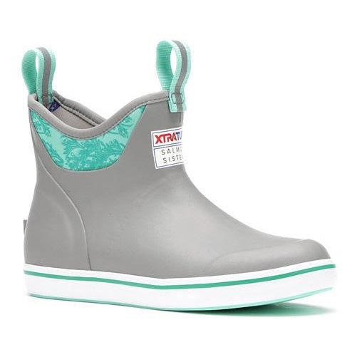 Women's XTRATUF Salmon Sisters 6 Inch Ankle Deck Boot - Gray/Kelp