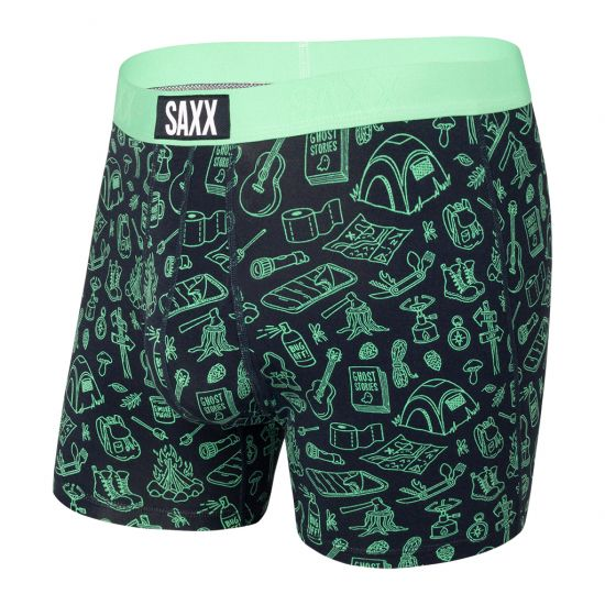 SAXX Men's Ultra Boxer Brief Underwear - Green Roughing It