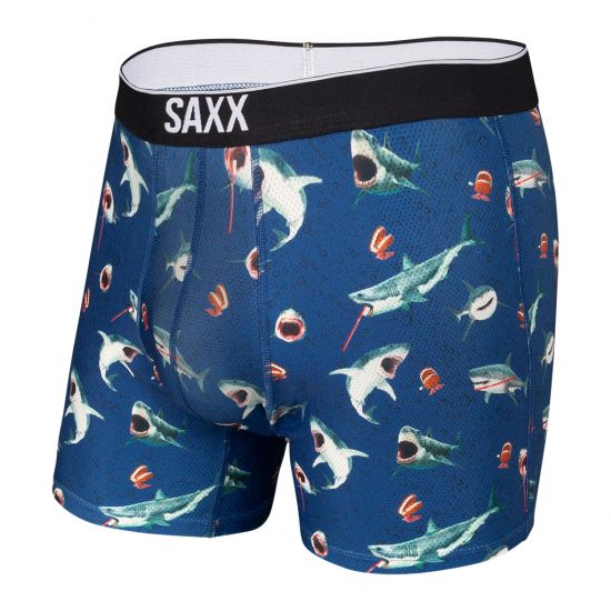 SAXX Men's Volt Boxer Brief Underwear - Chompers