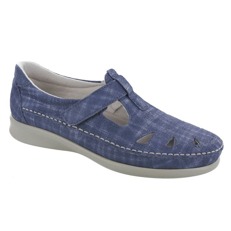 SAS Women's Roamer Slip On Loafer - Blue Jay