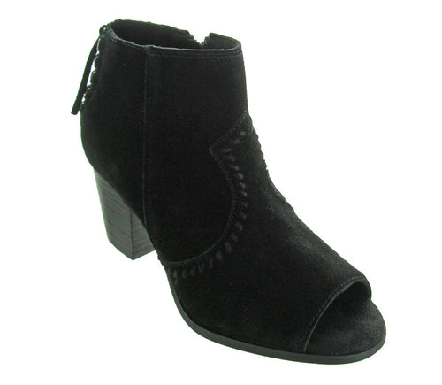 Women's Melanie Peep Toe Booties - Black