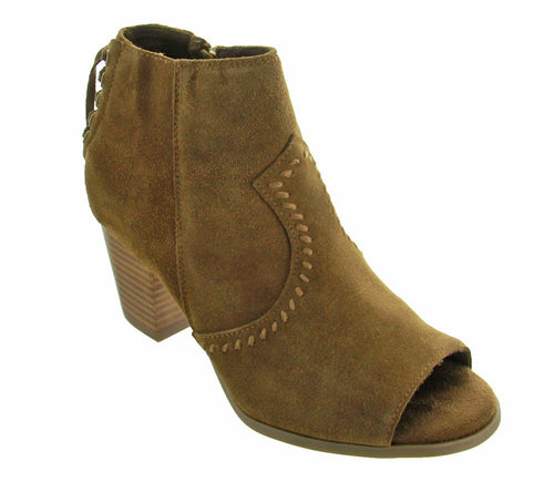 Women's Melanie Peep Toe Booties - Dusty Brown