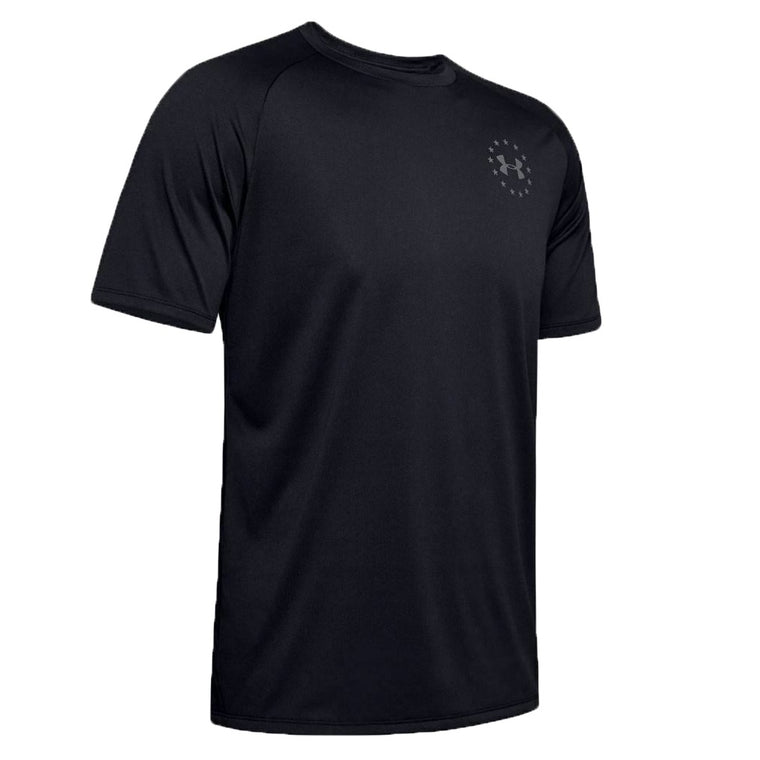 Under Armour Men's UA Freedom Tech Short Sleeve Shirt - Black