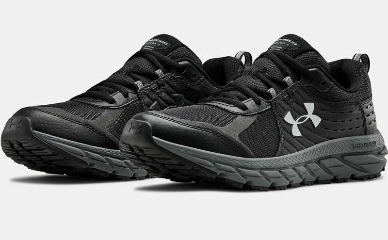 Men's Under Armour UA Charged Toccoa 2 Running Shoes - Black/Black