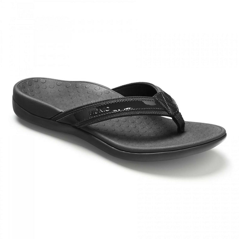 Vionic Women's Tide II Toe Post Sandal - Black