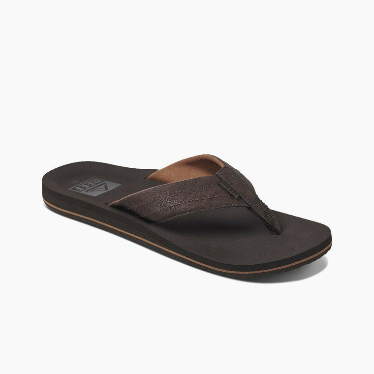 Reef Men's Twinpin Lux Flip Flops - Brown