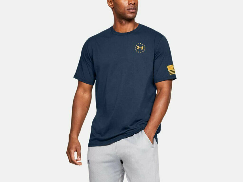 Under Armour Men's UA Freedom Flag Graphic T-Shirt - Academy/Yellow