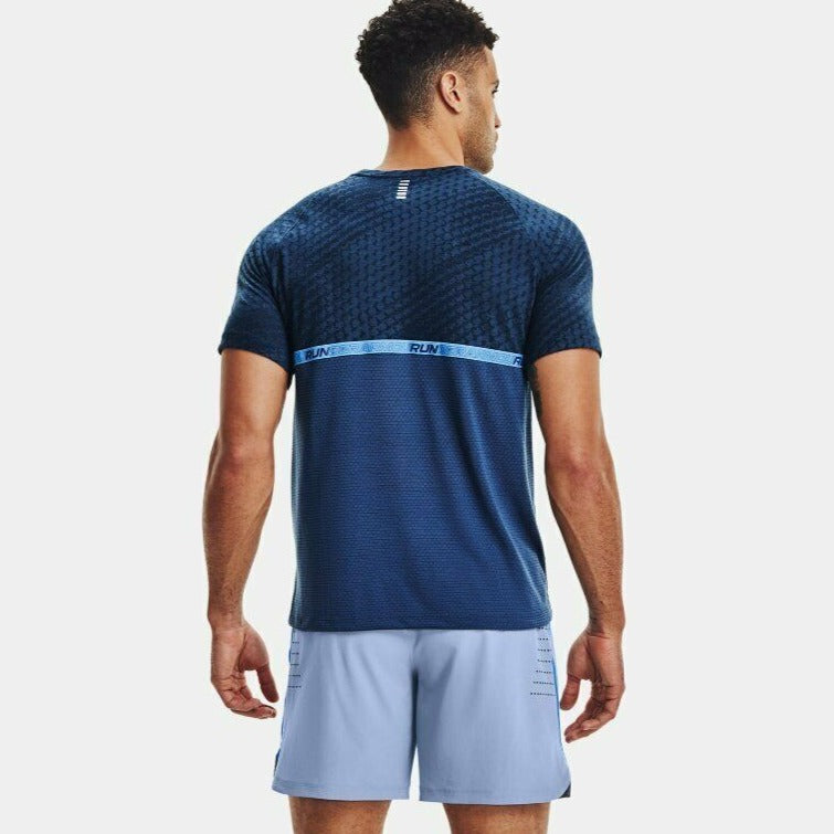 Under Armour Men's UA Streaker Runclipse Short Sleeve Shirt - Admiral Blue