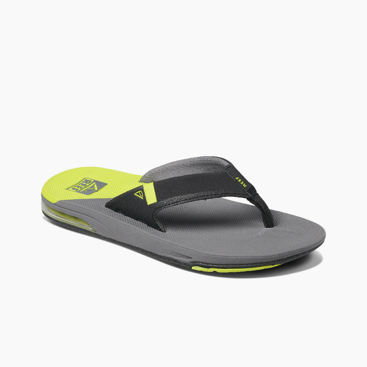 Reef Men's Fanning Low Flip Flops - Grey/Lime
