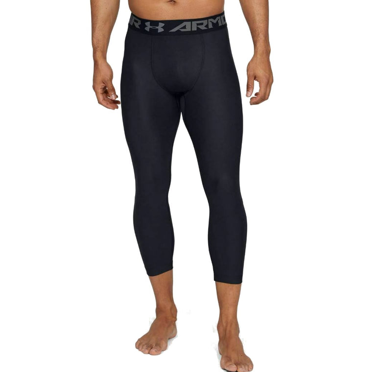 Men's Under Armour HeatGear Armour ¾ Leggings - Black/Graphite