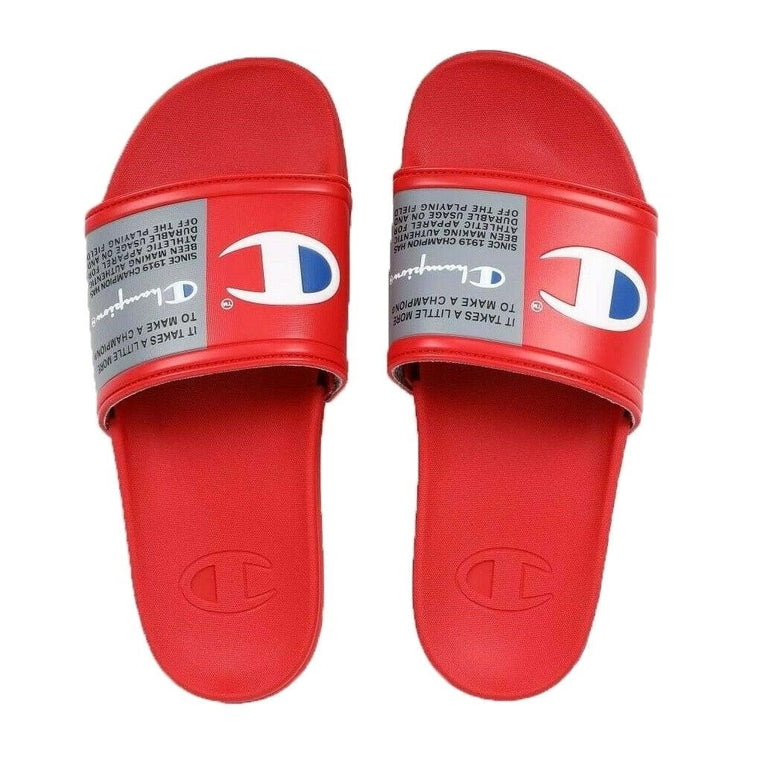 Champion Men's IPO Squish Slide Sandal - Scarlet/White/Surf The Web