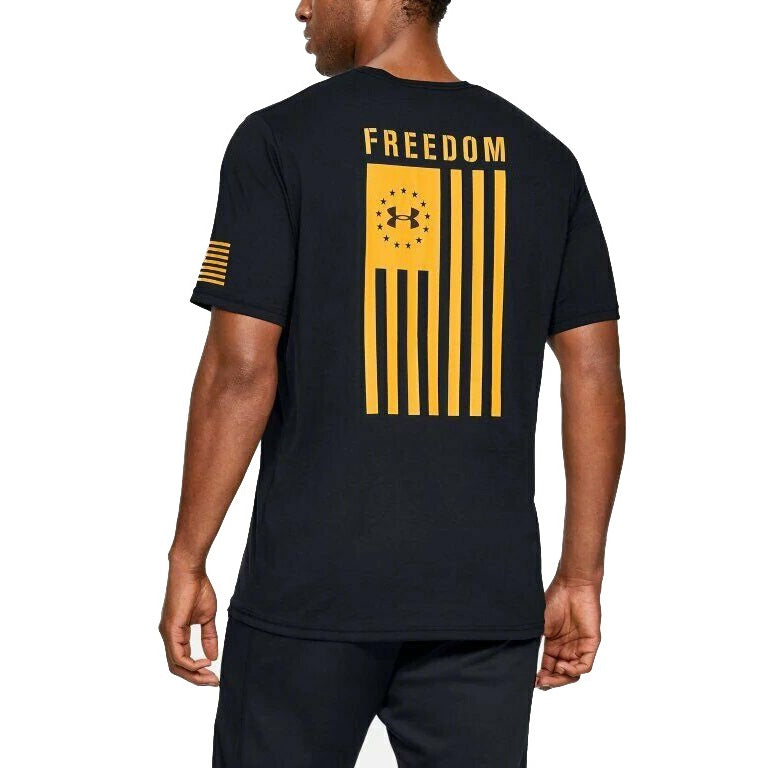 Under Armour Men's UA Freedom Flag Graphic T-Shirt - Black/Yellow