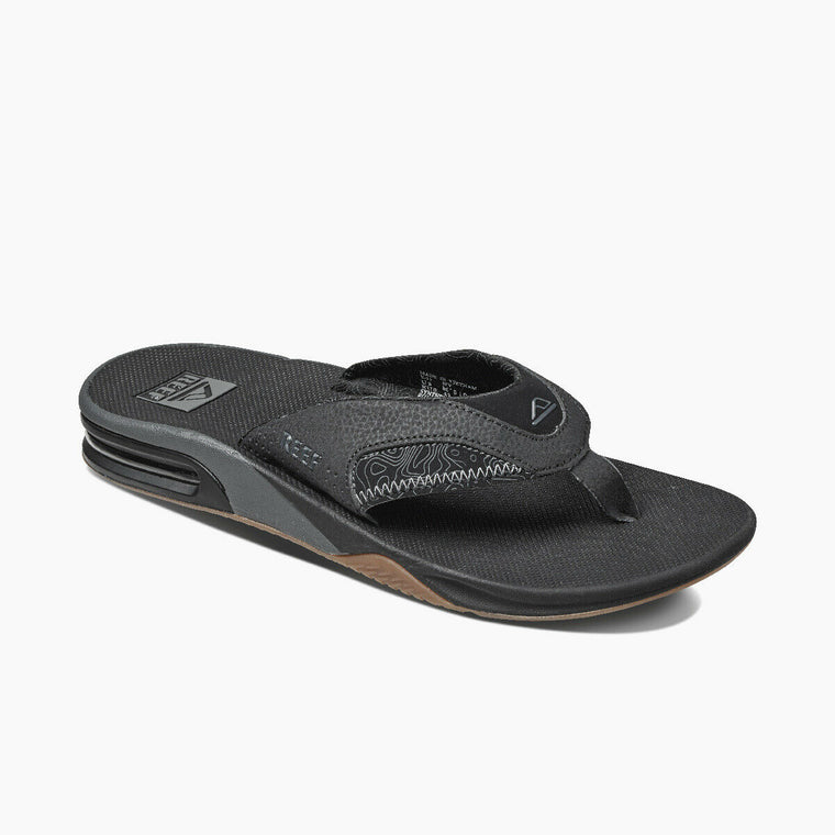 Reef Men's Fanning Prints Flip Flops - Tan Topo
