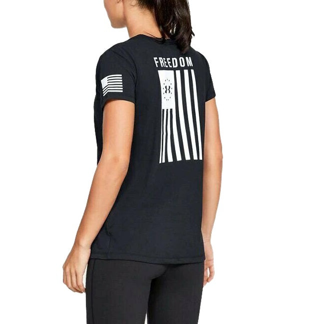 Under Armour Women's Freedom Flag Short Sleeve T-Shirt - Black
