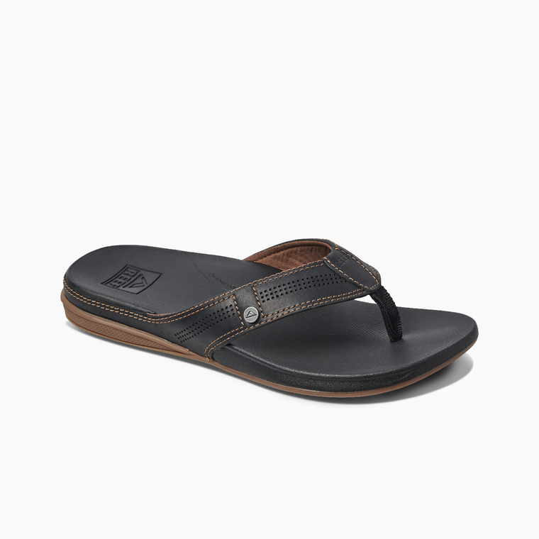 Reef Men's Cushion Lux Sandals - Black/Brown