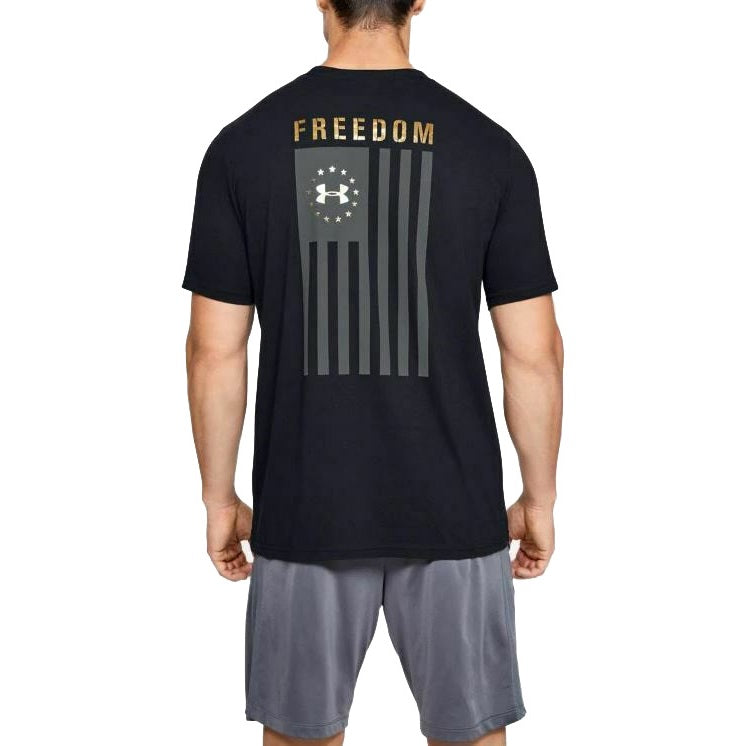Under Armour Men's Freedom Flag Evade T-Shirt - Black